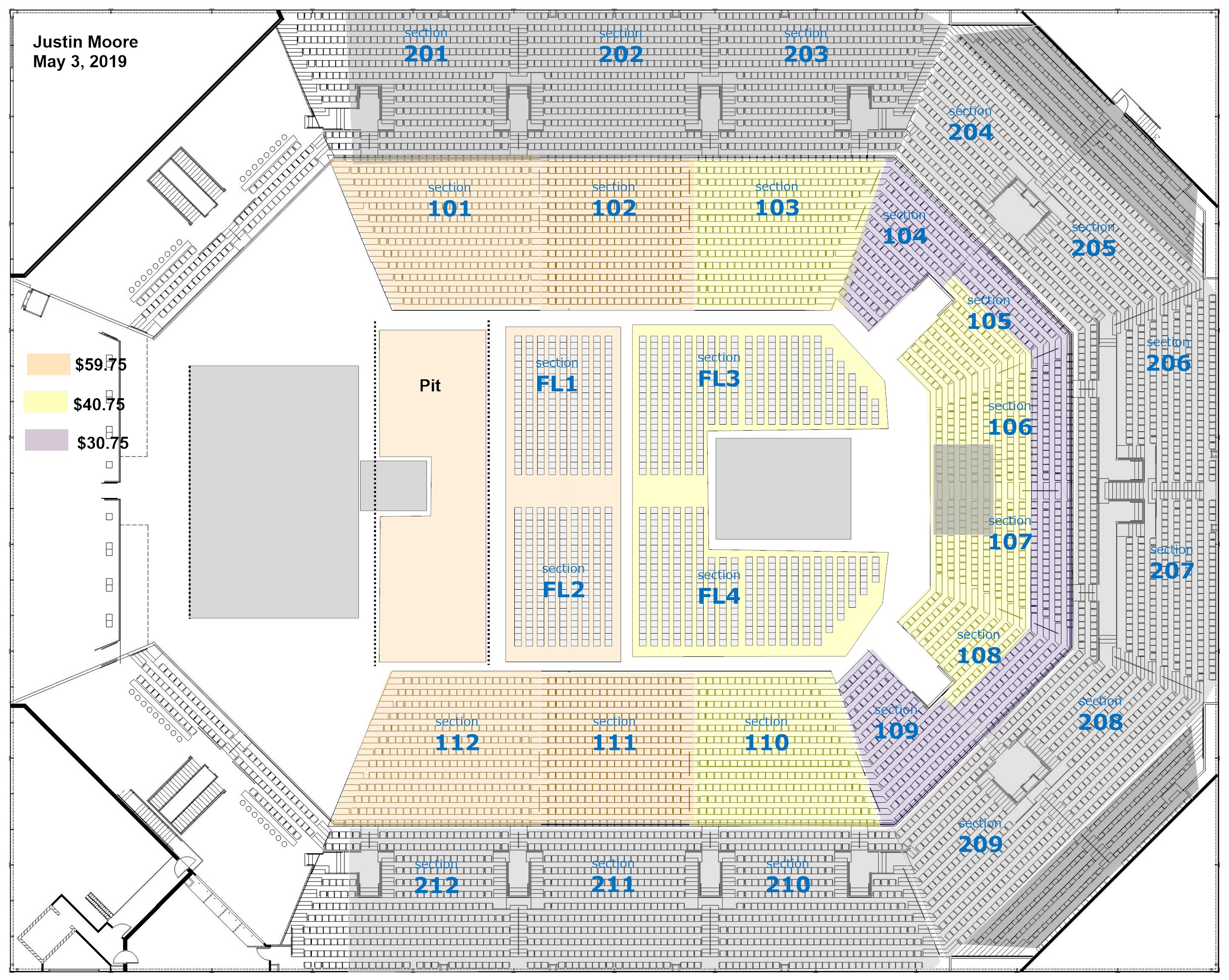 Justin Moore Seating Chart
